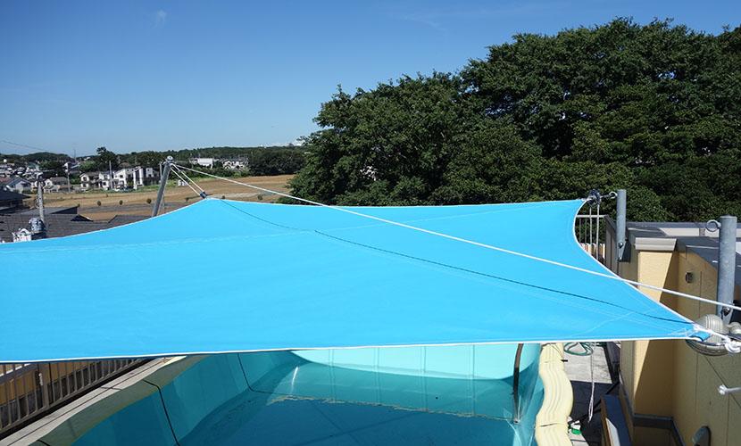 f shade エフシェード flexible furling shade sail 藤田商会の製品