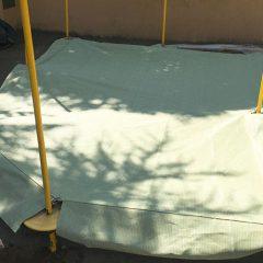砂場のシェードを砂場カバーに(幼稚園)